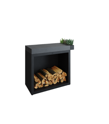 OFYR Butcher block storage 90 black donker grijs keramiek