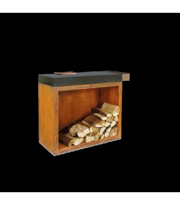 OFYR Butcher block storage 90 corten donker grijs keramiek