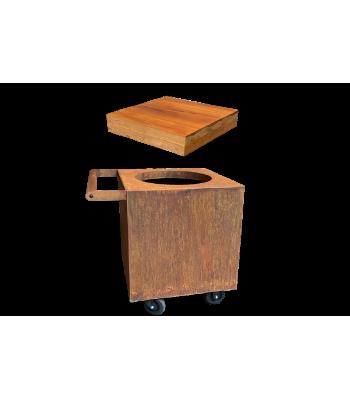 OFYR Classic corten 100 to PRO upgrade set block teak wood