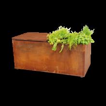 OFYR Herb garden bench corten