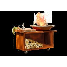 OFYR Island corten 100 PRO teak wood