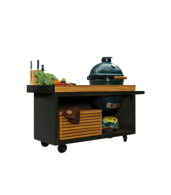 OFYR Kamado tafel black 135 PRO Teak Wood BGE