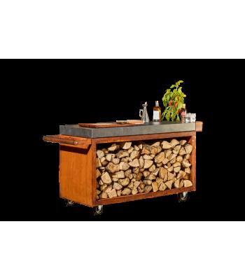 OFYR Mise en Place table corten 135 PRO donker grijs keramiek