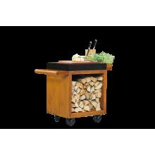 OFYR Mise en place table corten 65 PRO donker grijs keramiek