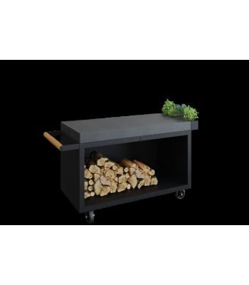OFYR Mise en Place table black 135 PRO donker grijs keramiek