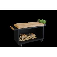 OFYR Mise en Place table black 135 PRO teak wood